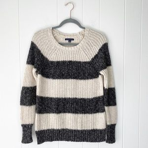 American Eagle Crewneck Knit Striped Sweater Sz. M